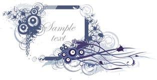 Floral frame design stock illustration