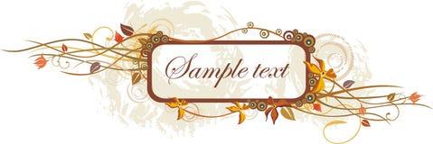Floral frame design Royalty Free Stock Image