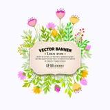 Floral frame design Royalty Free Stock Photos