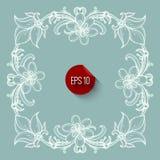 Floral frame design. Flourish ornate retro style Stock Photo