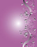 Floral Frame Design For Wedding Stock Images