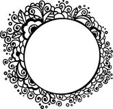 Floral frame. With doodle elements Royalty Free Stock Photography