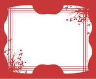 Colorful frame with floral decoration isolated Stock Images