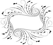Floral frame, element for design, vector. Illustration Stock Images