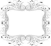 Floral frame, element for design, vector. Illustration Royalty Free Stock Photo