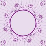 Floral frame, element for design, vector. Illustration Royalty Free Stock Images