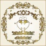 Floral frame elements. Lots of design floral frame elements stock illustration