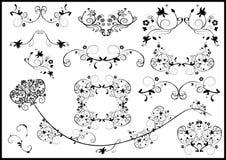 Floral frame elements. Lots of design floral frame elements royalty free illustration