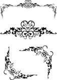 Floral frame elements vector illustration