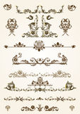 Floral Frame Elements. Vintage vector