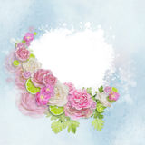 Floral frame with empty space for writing Royalty Free Stock Images