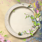 Floral frame with empty space for writing Royalty Free Stock Photography