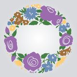 Floral frame. With space for text Royalty Free Stock Image