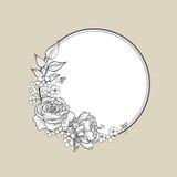 Floral frame. Flower border background. Stock Image
