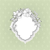 Floral frame. Flower border background. Royalty Free Stock Image