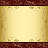 Floral frame with gold and brown background - eps Stock Photography