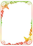 Floral frame with gradient fill. Stock Image