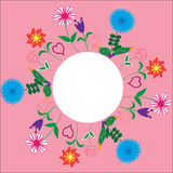 Floral frame for greetings, invitations, greeting  Stock Images