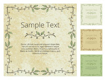 Floral Frame with Grunge Background Royalty Free Stock Photos