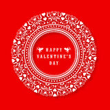 Floral frame for Happy Valentines Day celebration. Stock Image