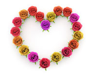 Floral frame in heart shape Royalty Free Stock Images