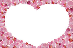 Floral frame with heart Royalty Free Stock Photography