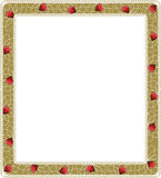 Floral frame with hearts Stock Images