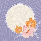 Floral frame  illustration Stock Image