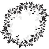 Floral frame - Illustration Royalty Free Stock Photos