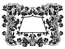 Floral frame. Isolated on white Stock Photos