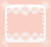 Floral frame. Floral lace papercut frame or card stock illustration