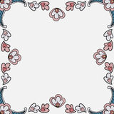 Floral frame. Of leaf and petals Royalty Free Stock Photo