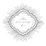 Floral frame. leaf vintage background. Royalty Free Stock Images