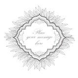 Floral frame. leaf vintage background. Royalty Free Stock Images
