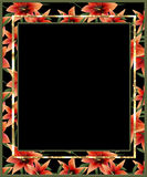 Floral frame with lilly flowers Royalty Free Stock Photos