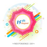 Floral frame pattern with abstract elements. Floral frame pattern with abstract elements on halftone background. 15 August, Indian Independence Day celebration Stock Illustration