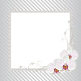 Floral frame with pearls Stock Images