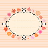 Floral Frame. Perfect for invitations or announcements. Vector illustration Stock Images