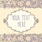 Floral Frame, perfect for invitations and greeting cards Stock Photos