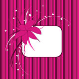 Floral frame, pink and purple Stock Photos