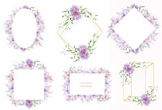 Floral frames with pink flowers and decorative leaves. Watercolor Invitation design horizontal. Background to save the date.Greeti. Floral frame with pink roses stock illustration