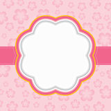 Floral frame. Pink floral frame. Vector illustration Stock Photos