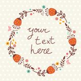 Floral frame with place for text Stock Photos