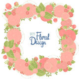 Floral frame and place for text Royalty Free Stock Image