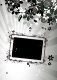 Floral frame with place for your text and photo Stock Photography