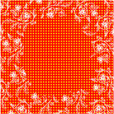 Floral frame points background. Vector Eps10 Stock Photos