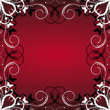 Floral frame on red background Royalty Free Stock Photo
