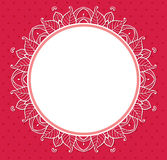 Floral frame on a red background Stock Photography