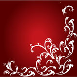 Floral frame in red Royalty Free Stock Photography