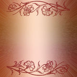 Floral frame with red ornament Royalty Free Stock Image